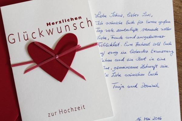 Handgeschriebene Karten und Briefe - Glückwunschkarte